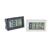 Black Black Black / Bianco Mini Digital LCD Ambiente Termometro Igrometro Misuratore di temperatura di umidità nella sala Frigorifero GLIMATORE SPEDIZIONE GRATUITA