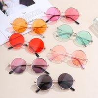 Weinlese-Süßigkeit-Farben-Kinder Runde ANTI-UV Sonnenbrille Junge Mädchen Einfach Kinder Retro- nette Sonnenbrillen Brillen UV400 Sonnenbrillen