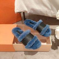 2021 Nouvelle vente chaude Chaussons à fourrure pour femmes avec laine de vraie laine Veau véritable sandales sandales d'hiver chaud bottes chaudes avec boîte