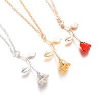 Collier Fashion Envoyer Petite amie Cadeau Exquisite Rose Pendentif pour Femmes Anniversaire de mariage Présent 80 p2
