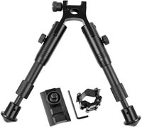 Twod Tactical Rifle Bipods regolabile 6-9 / 6,3-6,9 pollici Fit Picatinny con adattatore Extra