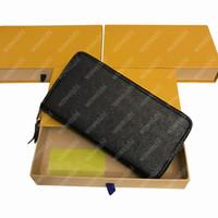 Новое высокое качество Мода тиснение кожаный муфты сумки для муфсию сумки длинные молнии кошельки карт держатели монеты кошельки мессенджера сумки с коробкой