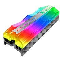مراوح التبريد Jonstbo Argb إضاءة M.2 SSD القرص الصلب غرفة التبريد 5 فولت 3pin الصلبة حالة القرص برودة الحرارة الحرارية وسادة التبريد الحرارية