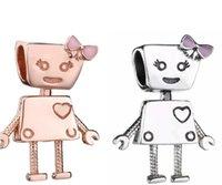 Authentic Bella Bot S925 Sterling Silver Bead Circa Charms Adatto per Bracciale Pandora Fascino per perline fai da te con smalti rosa2047