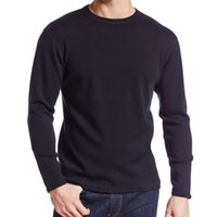 Masculino puro 100% fina merino lã homens de lã grossa tripulação inverno mangas compridas térmicas underwear quente Cardigan tops respirável roupa lj201008