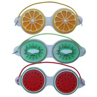 19 * 7CM hielo gel para los ojos Máscaras Máscara del sueño compresa fría Relief fatiga ocular linda fruta gel de enfriamiento Eye Care Relajación 3 Estilo KKF2288