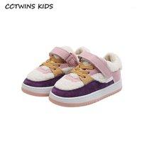 Cctwins crianças sapatos 2020 inverno crianças sapatos de pele bebê meninas marca casual treinadores meninos esporte sapatilhas aquecer sneaker fc28741
