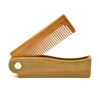 1pcs naturel blanc sandal de sandale pli peigne peigne de cheveux pour hommes Beard soin antistatique peigne en bois peigne cheveux outils de soins capillaires