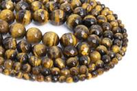 Golden Tiger Eye Gemstone sciolto Beads Micro sfaccettato intorno 8mm Figura 6 millimetri per monili che fanno