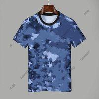 Ankunft Sommer Neue Designer T-shirts Herren Kleidung T-shirt Blaue Camo Brief Drucken Casual T-Shirt Frauen Luxus T-Shirt Kleid Tee Tops
