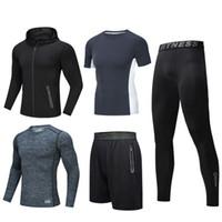 2021 en plein air Sports hommes de costume à manches courtes pantalon à séchage rapide course costume gymnase basket mince manteau costume cinq pièces