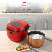220 فولت 5l طنجرة الأرز الذكية سعة كبيرة المنزلية متعددة الوظائف وعاء الطبخ دعوى لمدة 3-4-6-8 الناس المنزل استخدام شحن مجاني