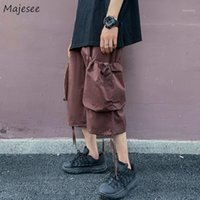 Men Shorts Multi- Pocket Cargo Harem Trousers Leisure Baggy U...