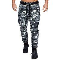 Cofekate Hommes Casual Dentelle Joggers Pantalon Pantalons Cargo Combat Pantalon Pantalon Couleur Solide Camouflage Pantalon de survêtement imprimé Hip Hop Hop