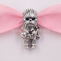Authentic 925 Sterling Silver Beads Chewbacca Charm Charms F...