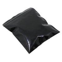 22*32cm Opaque Black Reclosable Valve Zip Lock Bag Plastic Self Seal Zipper Ziplock Bag Retail Packaging Storage Poly Bag Pouch