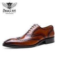 드레스 신발 Desai 남자 정품 가죽 디자이너 공식적인 작업을위한 캐주얼 무리 2021 도착 고품질