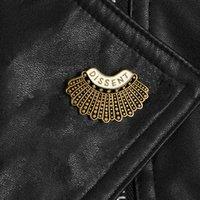 나는 반대 의견 페미니즘 에나멜 새로운 루스 베이더 핀과 브로치 긴스 버그 아바타 옷깃 핀 페미니스트 혁명 배지 보석 GIF