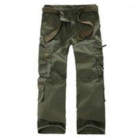 Pantalones al aire libre Hombre Primavera y otoño Pantalones de múltiples bolsillos TRABAJOS CIUDAD DE LA CIUDAD HISTING MEN1