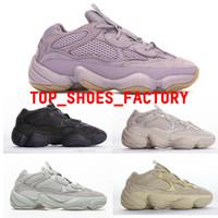 PK Versión Soft Vision 500 Zapatos de piedra Desert Rata Mujeres Hombres Bone Blanco Zapatillas de deporte Black Blush Zapatos deportivos Des Chaussures Air Shoes