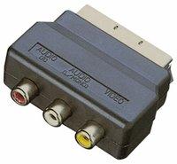 Convertisseur adaptateur femelle A / V femelle RGB Scart mâle à 3 RCA pour la télévision DVD VCRS