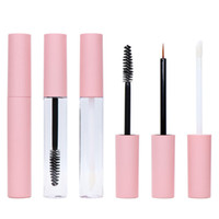 10 ml Tubos de brillo de labios vacíos Pink plástico recipiente cosmético recargable DIY MASCARA EYELINER Eyelash Tube líquido