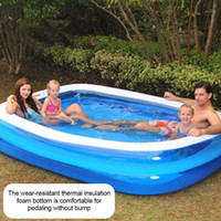 Inflatable Swimming Pool Adults Kids Pool Bathing Tub Outdoo...