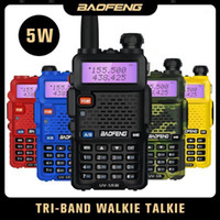Tri-Band Baofeng UV-5R III Walkie Talkie VHF UHF 220-260MHz Transceiver Portable 5W Zwei Way Ham Radio UV5R UV 5R Update Version1