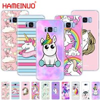 HAMEINUO Rainbow Unicorn cell phone case cover for Samsung G...