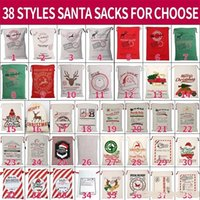 DHL Ship Santa Sacks 38 Styels Canvas Cotton Large Organic H...
