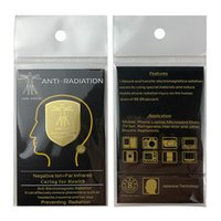 DHL-휴대 전화 안티 방사선 가젯 세대 EMF 보호 전화 스티커 전화 액세서리 더블 24K 쉴드 골드