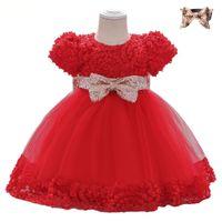 فساتين التعميد الطويلة الأميرة المصممين الملابس الزهرة فتاة فساتين حمراء الوردي أبيض أطفال الطفل مهرجان أثواب أحدث تصميم الملابس مخصصة