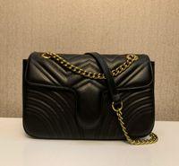 2020 حار بيع مارمونت حقيبة crossbody 443497 حقائب اليد جودة عالية حقيبة ناعمة حقيقية بو الجلود حقائب الكتف المرأة تأتي 26 سنتيمتر