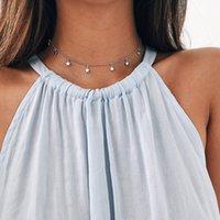 2020 Moda Boho Kolye Collier Femme Zincir Yaka Collares De Moda Star kolye Kadınlar gerdanlık Kolye Altın Simli Kolyeler