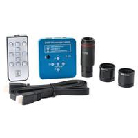 캠코더 34MP 2K 1080P 60FPS USB 디지털 현미경 산업용 전자 비디오 솔더링 카메라 번호 0.5x C 마운트 어댑터