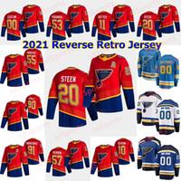 St. Louis Blues 2021 Ters Retro Hokey Formaları 49 IVAN Barbashev Jersey Carl Gunnarsson Brett Hull Vladimir Sobotka Kırmızı Özel Stitche