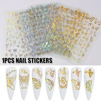 Multiple Types Nail Art Laser Gold And Silver Butterfly Stic...