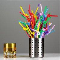 100 pcs / pack canudos flexíveis para aniversário festa de casamento evento suprimentos decorativos bolha cocktail partido gadget uwafh