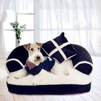 1PC الحارة تشيواوا كلب صغير سرير فاخر كلب صوفا سرير مع وسادة قابل للفصل غسل لينة الصوف القطة سرير