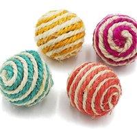 Suministros para mascotas Knitting Ball Cat Agarrando Bola Tease Gatos Juguete Esencial para Mascotas Propietarios Multicolor Nuevo 0 6MYA J2