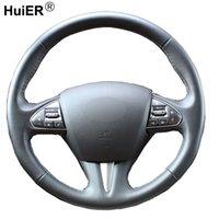 Hand Nähen Auto Lenkradbezug Volant Funda Volante Stuurhoes Für Infiniti Q50 2014 2015 2016 2017 2015 2016 2017 QX50