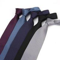 넥 넥타이 8cm 남성 폴리 에스터 짠된 넥타이 패션 슬림 웨딩 비즈니스 남성 캐주얼 Gravatas1