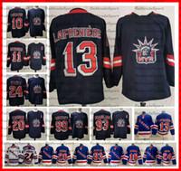 2021 عكس الرجعية نيويورك رينجرز 13 الكسيس Lafreniere Kaapo Kakko 10 Artemi Panarin كريس Kreider Zibanejad Messier Gretzky Hockey Jersey