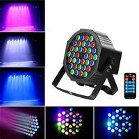 36W 36-LED RGB Remote / Auto / Auto Control DMX512 Alto Brillo Iluminación Mini DJ Bar Party Alta Calidad Etapa Lámpara al Por Mayor