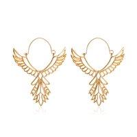europeos y norteamericanos alas de ángel de la moda pendientes pendientes de la muestra del estilo étnico pendientes águila hueco de paz por mayor