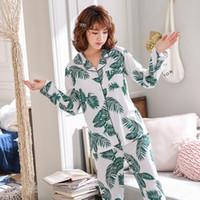 Wavmit Factory Продажа 2019 Женщины Пижамы Комплекты Прекрасная домашняя одежда с длинным рукавом хлопка пижамы Удобная Сыпучие досуга девушки пижамы