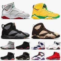 Toptan 2020 En Kaliteli Jumpman 7 Erkek Basketbol Ayakkabı 7 S Hare Oregon Ördekler Bordeaux Patta Retro Moda Kadınlar Topaz Mist Spor Sneakers