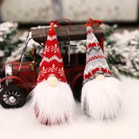 Feliz navidad sueco santa gnomo felpa muñeca adornos hechos a mano elfo juguete vacaciones fiesta decoración decoraciones