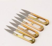 الذهب لون مقص الحديد أدوات المنزلية مفيد صغير مقص الخياطة الصغيرة التطريز الخياطة عبر الابره الحرفية القوالب اليد أداة EEF3974