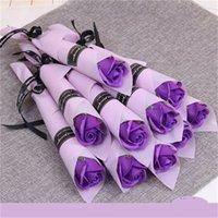 Einzelne Stamm Künstliche Rose Bad Seife Rosen Blumenstrauß Valentinstag Paar Geschenke Home Dekorieren verkauft gut 0 95xl H1